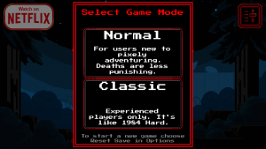 Stranger Things: The Game for Android menu
